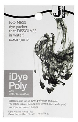 IDye Poly Black - For Polyester And Nylon Fabrics-  No Mess 14 Gram  Pack NEW • 6.35£