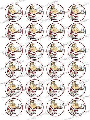 £4.65 • Buy 24 Rugby Player Sport Edible Icing Cupcake Fairy Cake Party Bun Toppers
