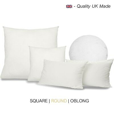 Cushion Pads Hollowfibre Scatters Inserts Fillers Inners Square Round Oblong • 9.88£