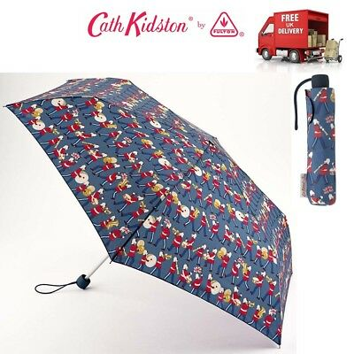 £20.95 • Buy Cath Kidston Marching Band Slim Compact Folding Umbrella With Matching Cover