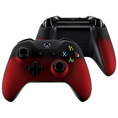 $18.95 • Buy Front Shell Faceplates Side Rails For Microsoft Xbox One S Controller Shadow Red