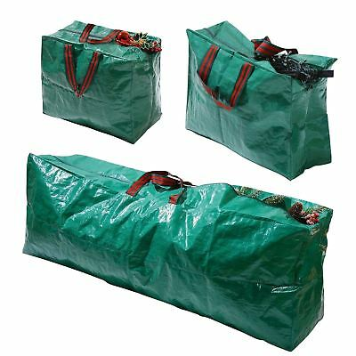 Christmas Xmas Decorations Large Tree Jumbo Storage Bag Garland Lights Baubles • 9.95£