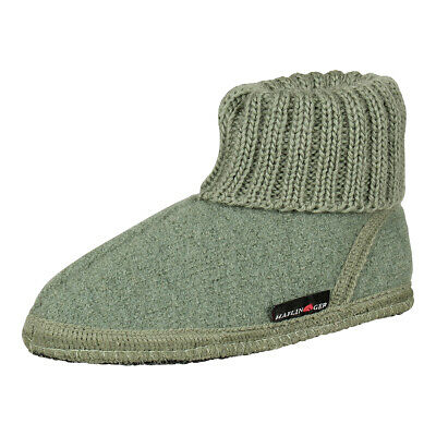 Haflinger Kids Slippers House Shoes Slippers Virgin Wool Karl Kiwi (Green) • 21.51£