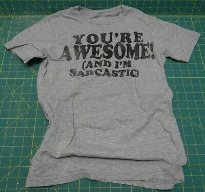Urban Pipeline  You're Awesome! (and I'm Sarcastic)  T-Shirt, Medium • 3.54£