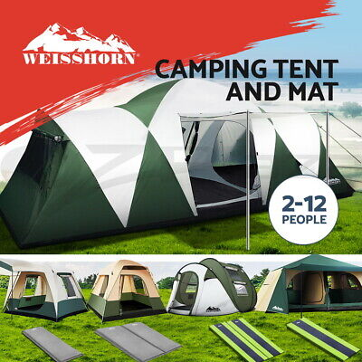 AU43.95 • Buy Weisshorn Camping Tent Tents Self Inflating Mat Family Beach 4-12 Person