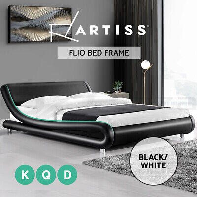 AU299 • Buy Artiss Bed Frame Double Queen King Size Base Mattress Platform Leather