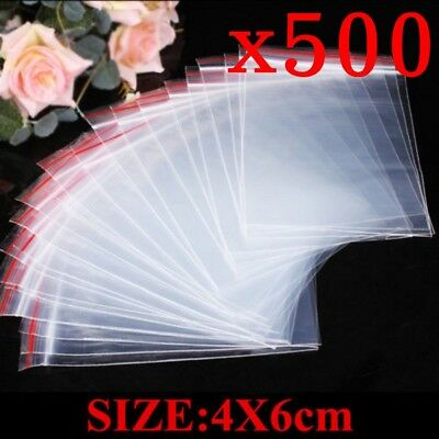 AU3.09 • Buy 500x Small Zip Lock Plastic Bags Reclosable Resealable Zipper Clear 4X6cm Thick