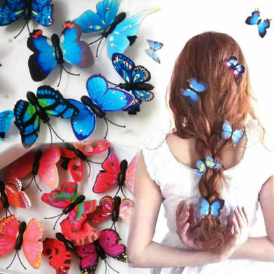 $0.76 • Buy 5Pcs Butterfly Flower Hair Claw Clamp Hair Clips Wedding Party Bridal Hair Pins