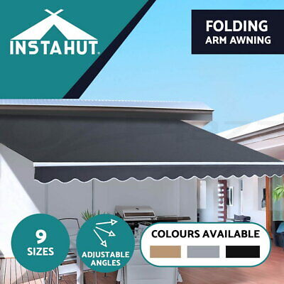 AU269 • Buy Instahut Retractable Folding Arm Awning Outdoor Awning Sunshade Canopy 9 Sizes