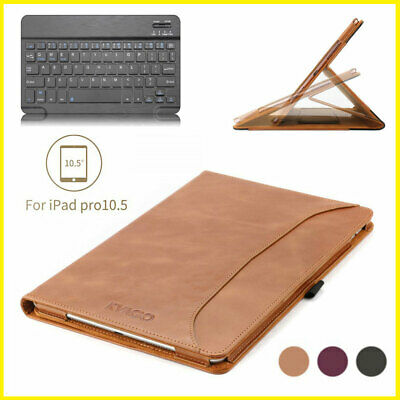 $59.99 • Buy For IPad Pro 10.5  / Air 3rd Gen Genuine Leather Case Cover & Bluetooth Keyboard