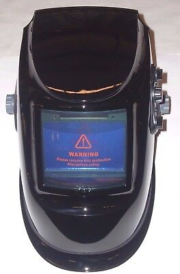 $ CDN62.43 • Buy Large View Auto Darkening Welding Helmet Adj Shade Delay & Sensitivity Black