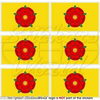 LANCASHIRE Flag Red Rose Of Lancaster UK Mobile Cell Phone Mini Sticker-Decal X6 • 3.01£
