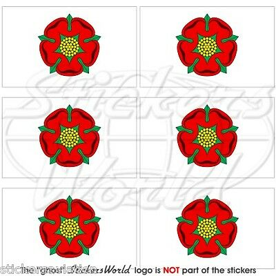 £3.01 • Buy LANCASHIRE Red Rose Of Lancaster Flag UK Mobile Cell Phone Mini Sticker-Decal X6
