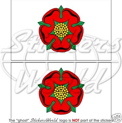 £3.90 • Buy LANCASHIRE County Flag Red Rose Of Lancaster UK 100mm Vinyl Stickers Decals X2