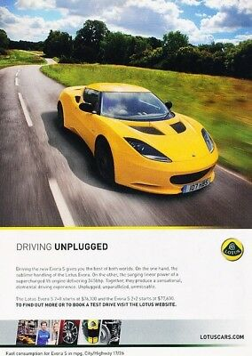 $ CDN6.27 • Buy 2012 Lotus Evora S Yellow - Original Advertisement Print Art Car Ad J889