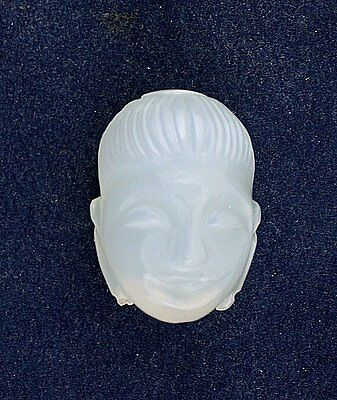 $119.99 • Buy 17.64 Carats Carved Moonstone Face Custom Cut Cab Cabochon Gemstone EBS8336