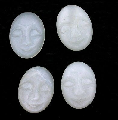 $138.99 • Buy ONE 20x15 Oval Natural Carved Moonstone Face Gem Gemstone Cabochon 20mm X 15mm