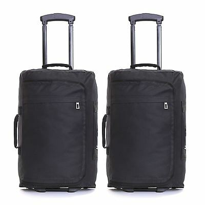 £29.99 • Buy Set Of 2 Ryanair Wheeled Carry On Cabin Flight Luggage Suitcases Trolley Bags