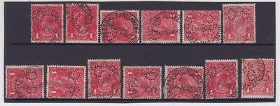 AU95 • Buy Stamps KGV 1d Red OS X 13 Federal Parliament House Postmarks May 17 - June 18