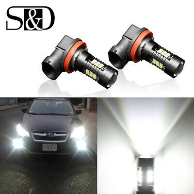 AU16.14 • Buy 2X H11 Xenon White High Power 21SMD Car LED Projector Lens DRL Bulbs Fog Lights