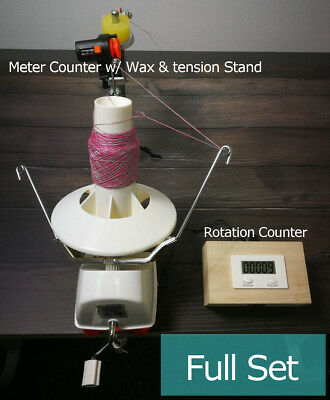 L2 Jumbo Yarn Ball Winder With Electric Rotation Counter Meter Length Counter • 20£