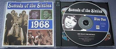 SOUNDS OF THE SIXTIES 1968 Time Life 2 X CD NEAR MINT Beach Boys Hollies Monkees • 29.95£