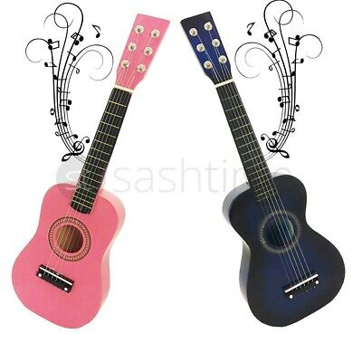 23  Childrens Wooden Acoustic Guitar Musical Instrument Toy Xmas Gift Kids Music • 112.49£