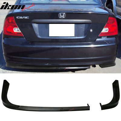 $134.99 • Buy Fits 01-03 Honda Civic 2Dr Coupe TR Style Rear Bumper Lip PU Unpainted Black
