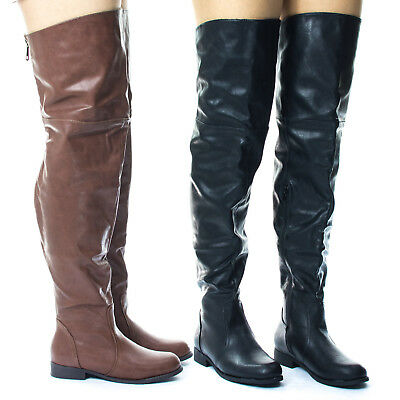 8da83c51be24 Renee16W Slouchy Over Knee Thigh High Western Riding Boot