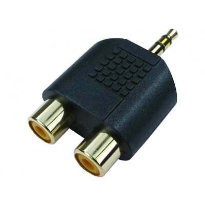 £1.79 • Buy 3.5mm Jack To 2 RCA Twin Phono Adaptor Y Splitter Stereo Male 2 X Female GOLD
