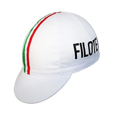 FILOTEX RETRO VINTAGE SUMMER CYCLING TEAM UNDER HELMET BIKE CAP - Made In Italy • 6.99£