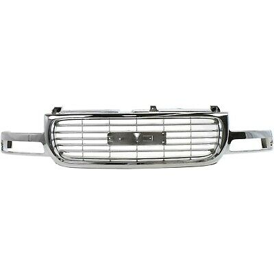 $205.85 • Buy Grille 99-02 For GMC Sierra 1500 00-06 Yukon Chr Shell W/Gray Insert W/o Denali