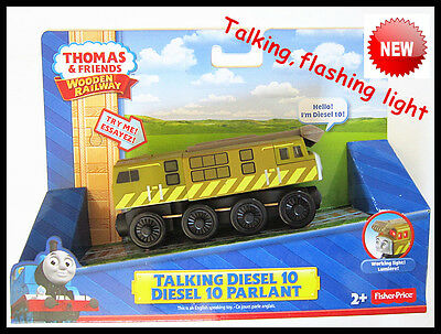 Thomas The Tank Engine Wooden Train 【Talking & Flashing】  Diesel 10  New In Box • 145.99£