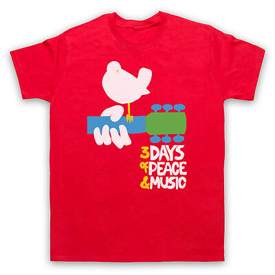 Woodstock Rock Festival 3 Days Of Peace & Music Retro Mens Womens Kids T-shirt • 15.99£