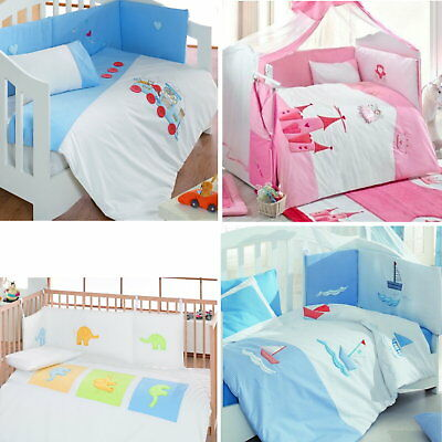 £6.95 • Buy Luxury Embroidered Nursery Baby Bedding Duvet Blanket Cot Bed Quilt Or Bumper