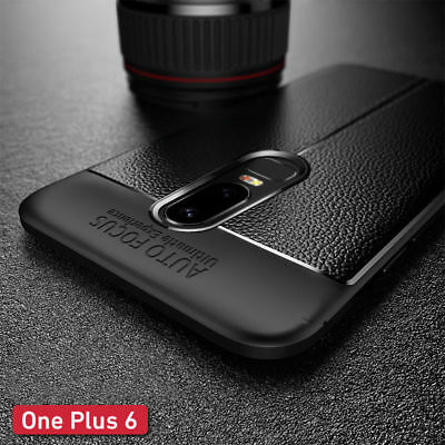 AU5.39 • Buy For OnePlus Nord 8T 6T 6 5T Shockproof Leather Skin Soft Rubber Slim Case Cover