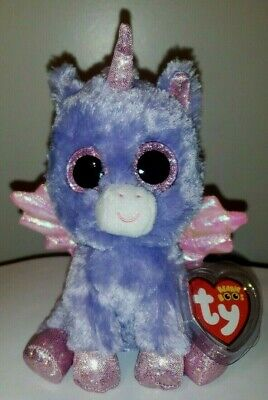 8d61518279a TY Beanie Boos ~ Athena The Purple Pegasus 6 Inch (Claire s Exclusive) NEW  MWMT