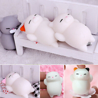$ CDN2.77 • Buy Lovely Lazy Cat Squashy Squeeze Funny Slow Rising Stress Relaxed Toys Strap Gift