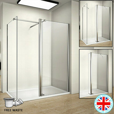 £72.44 • Buy AICA Walk In Wet Room Shower Enclosure Screen Flipper 8mm Glass Panel Tray Waste
