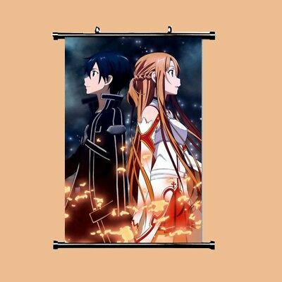 AU5.69 • Buy Wall Poster HOT Anime SAO Sword Art Online Jasna Tung Scroll Home Decor Cosplay