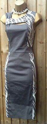 £27.99 • Buy 50's Vintage Style Julien Macdonald  Pin Up Pencil Wiggle Party Dress 8 - 16