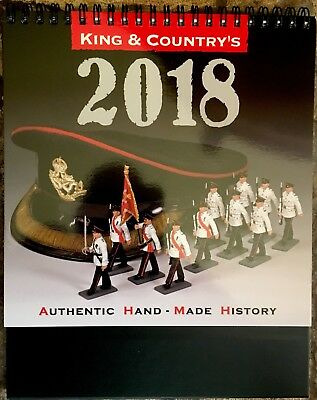 AU13.36 • Buy King & Country 2018 Desk Calendar For Toy Soldier Collectors