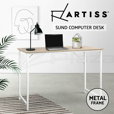 AU59.90 • Buy Artiss Office Computer Desk Study Laptop Metal Table Student Home Work White