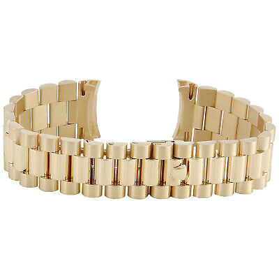 $ CDN7546.80 • Buy Mens President 18K Yellow Gold Watch Band For Rolex Day-Date 20mm | 70 Grams
