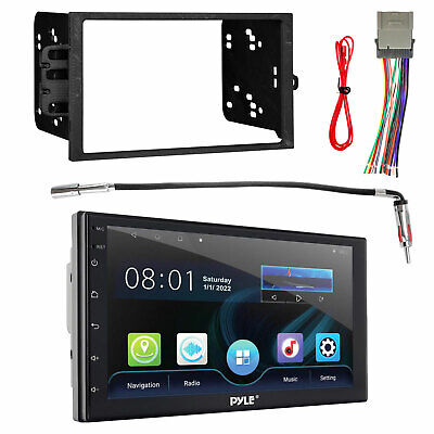 $164.49 • Buy Dual 2-DIN Touch Screen DVD USB Receiver, Adapter, Radio Harness, Dash Kit