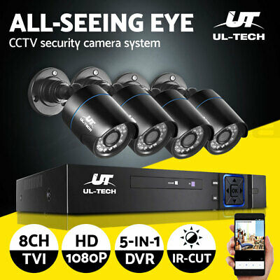 AU159.99 • Buy UL-tech CCTV Home Security System 8CH DVR 1080P Camera Outdoor Day Night IP Kit