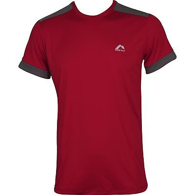 £10.99 • Buy More Mile Action Mens Running Top Red Short Sleeve T-Shirt Gym Training Workout