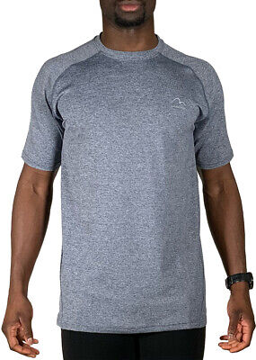 £9.99 • Buy More Mile Train To Run Mens Running Top Grey Sports Workout Short Sleeve T-Shirt