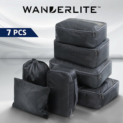 AU20.90 • Buy Wanderlite Luggage Organiser 7PCS Suitcase Packing Cubes Travel Storage Bag