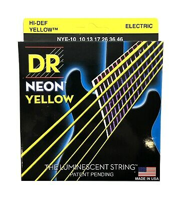 $ CDN14.72 • Buy DR Strings Guitar Strings Electric Neon Yellow 10-46 Medium